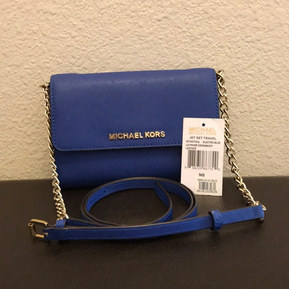 54ae9fd4346f MICHAEL Michael Kors Bags | Jet Set Travelelectric Blue Lgphone ...